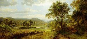 The Saw Mill River by Jasper Francis Cropsey