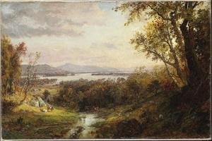View of the Hudson, 1883 by Jasper Francis Cropsey