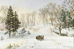 Winter on Ravensdale Road, Hastings-On-Hudson, 1890 by Jasper Francis Cropsey