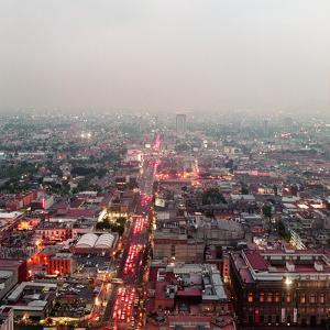 Aerial View of Mexico City by Jasper James