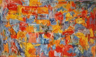 Map (sm) by Jasper Johns
