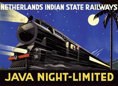 Java, Dutch East Indies - Java Night-Limited - Netherlands Indian State Railways