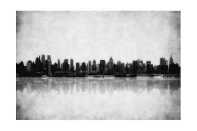Grunge Image Of New York Skyline by javarman