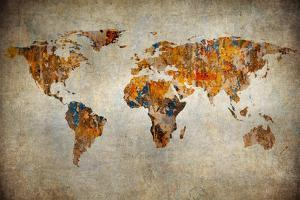 Grunge Map Of The World by javarman
