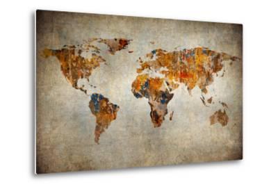 Grunge Map Of The World by javarman