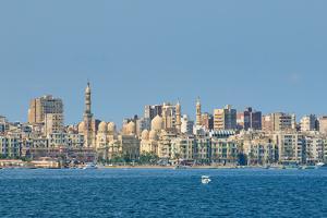 View of Alexandria Harbor, Egypt by javarman