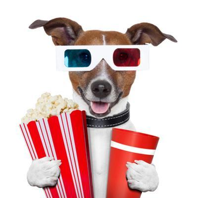 3D Glasses Movie Popcorn Dog by Javier Brosch