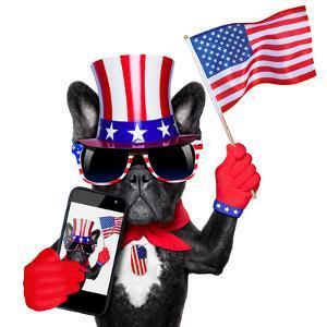 American Selfie Dog by Javier Brosch
