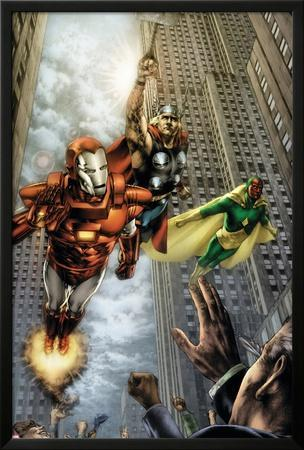 Marvels: Eye Of The Camera No.4 Cover: Iron Man, Thor and Vision