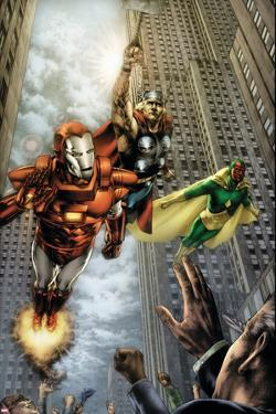 Marvels: Eye Of The Camera No.4 Cover: Iron Man, Thor and Vision by Jay Anacleto