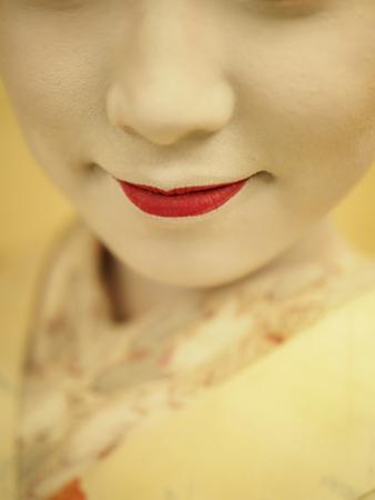 A Portrait of Geisha with Red Lipstick by Jay Dickman