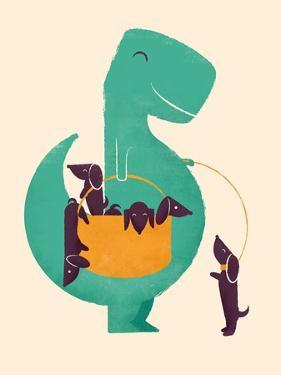TRex and the Basketful of Wiener Dogs by Jay Fleck