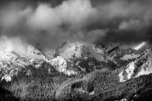 A Winter Storm Clears over the Northern Cascades Near Mount Baker Ski Area, Washington by Jay Goodrich