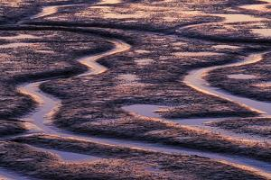 Abstract Shapes at Sunset During Low Tide on Martha's Beach by Jay Goodrich
