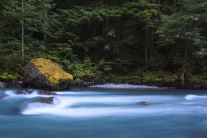 Cool Blue Waters Of North Fork Of Nooksack River Along Horseshoe Bend Trail In Glacier Washington by Jay Goodrich