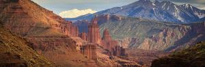 Fisher Towers Along The Colorado River Near Moab, Utah by Jay Goodrich