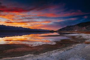 Sierra Sunset Over Owens Lake In Southern California by Jay Goodrich