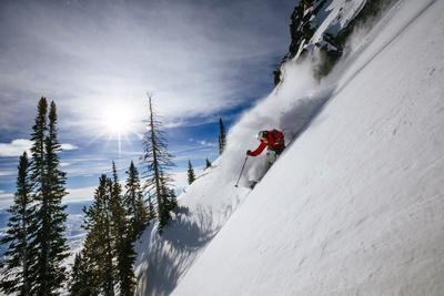 Skiing The Teton Backcountry Powder After A Winter Storm Clears Near Jackson Hole Mountain Resort