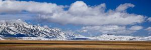 Snow Blankets Grand Teton And Jackson Hole Valley During Winter In Grand Teton National Park, WY by Jay Goodrich