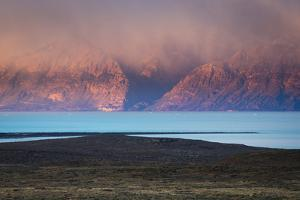 Sunrise over Lake Viedma and the Mountain Peaks of Los Glacieres National Park, Argentina by Jay Goodrich