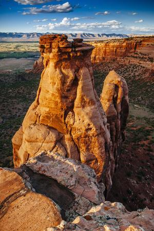 Sunset Over The Rock Formations In Colorado National Monument Near Grand Junction, Colorado
