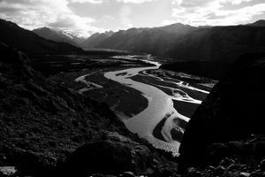 The De Las Vueltas River Glowing in Los Glacieres National Park in Argentina by Jay Goodrich