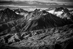 The Peaks And Valleys Of The Sierra Mountain Range Highlight And Arid Zone Of The United States by Jay Goodrich