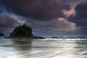 The Seastacks Along Second Beach Are Silhouetted At Sunset In Olympic National Park, Washington by Jay Goodrich