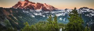 The Summer Sun Sets over Mount Shuksan Near Artist Point in the Cascades of Washington State by Jay Goodrich