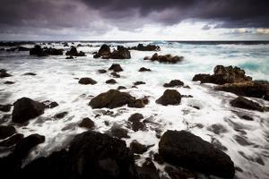 Waves Of Pacific Ocean Crash Onto Lava Shores Of Laupahoehoe State Park On The Big Island Of Hawaii by Jay Goodrich