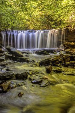 Pennsylvania, Benton, Ricketts Glen State Park. Oneida Falls Cascade by Jay O'brien