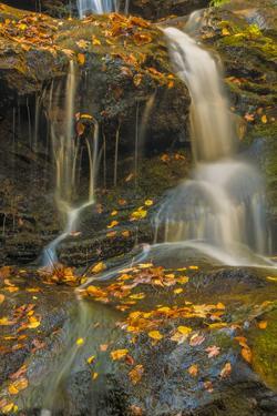 Pennsylvania, Delaware Water Gap NRA. Waterfall over Rocks by Jay O'brien