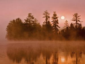 Sunrise on a Lake, Adirondack Park, New York, USA by Jay O'brien