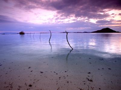 Electricity Cable Supplying Stilt House off Remote Island, Lesser Sunda Archipelago, Indonesia