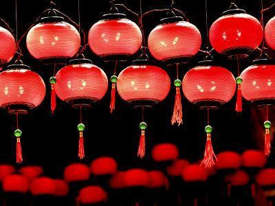 Lanterns in Chinese Temple, Kuala Lumpur, Malaysia