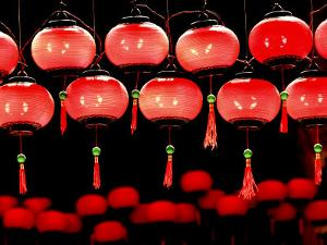 Lanterns in Chinese Temple, Kuala Lumpur, Malaysia by Jay Sturdevant