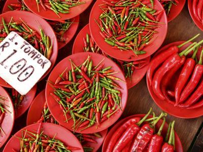 Peppers for Sale in Market, Kuching, Sarawak, Borneo, Malaysia