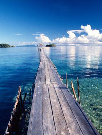 Wooden Jetty Extending off Kadidiri Island, Togian Islands, Sulawesi