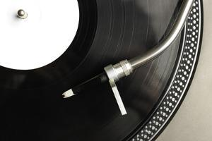 Top View of Old Fashioned Turntable by jaycriss