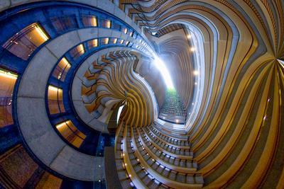 Abstract design of stairway.