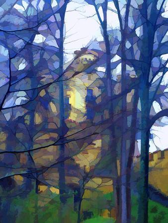 Abstract of forest.