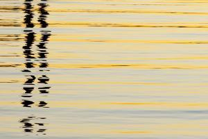 Abstract Reflections in San Diego Harbort, San Diego, California, USA by Jaynes Gallery