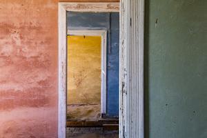 Africa, Namibia, Kolmanskop. Interior of Deserted Home by Jaynes Gallery