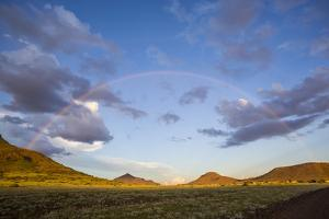 Africa, Namibia. Landscape with Full Rainbow by Jaynes Gallery