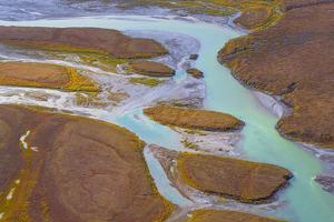 Alaska, Brooks Range, Arctic National Wildlife Refuge. Aerial of Ivishak River. by Jaynes Gallery