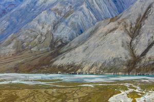 Alaska, Brooks Range, Arctic National Wildlife Refuge. Montain landscape and River. by Jaynes Gallery