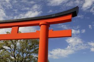 Asia, Japan, Kyoto. Torii Gate at Fushimi-Inari-Taisha Shinto Shrine. by Jaynes Gallery