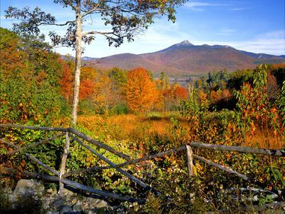 Autumn Landscape of Mount Chocorua, New England, New Hampshire, USA