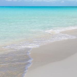 Bahamas, Little Exuma Island. Ocean surf and beach. by Jaynes Gallery