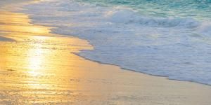 Bahamas, Little Exuma Island. Sunset on Beach by Jaynes Gallery